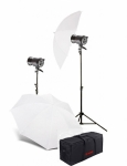 Комплект освещения Jinbei QZ-1000 Quartz Light 3200K Translucent Softlight Umbrella Kit №2